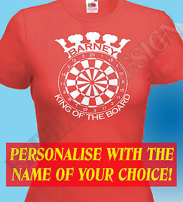 Darts Player Personalised T-Shirt Men Women King Queen Darts Many Sizes Colours