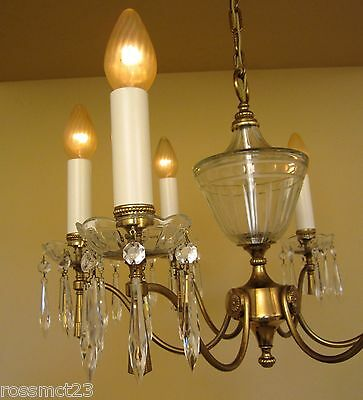 Vintage Lighting large Mid Century Italian made chandelier by Lightolier 3