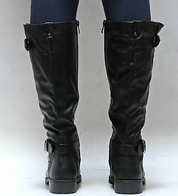 fd10fd4f33954 9 of 10 New Women Ed07 Brown Black Tan Buckle Riding Knee High Boots size  5.5 to 11