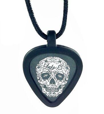 Ogre Guitar Pick Holder Necklace Green Demon Metal Design
