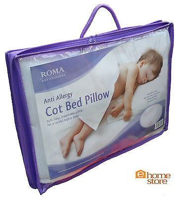 Anti-Allergy, Quality, Kids, Baby, Toddler, Junior, Nursery Cot Bed Pillow 2