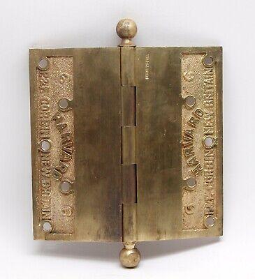 6 x 6 Corbin Harvard Cast Brass Butt Antique Door Hinge 2