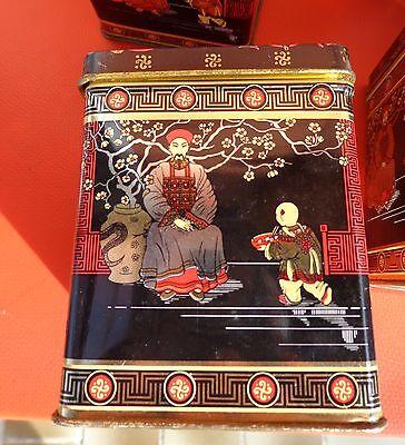 7 Teedosen aus Blech mit asiatischem Motiv 4