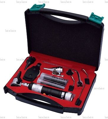 BLACK Veterinary Otoscope Ophthalmoscope Diagnostic Kit ENT Surgical Instruments 4