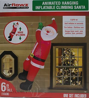 Animated Inflatable Climbing Santa 6 ft