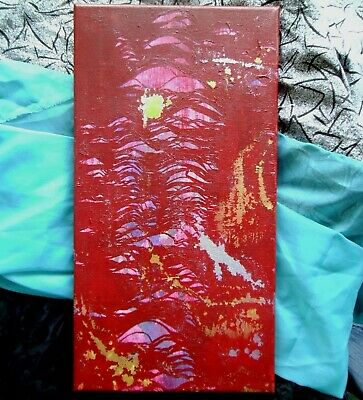 Red Abstract Painting Original Canvas Art Textured Artwork OOAK Wall Home Decor 8