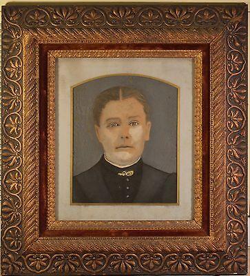 Stunning Antique Folk Art Portraits in Arts & Craft Original Frames. BEAUTIFUL! 8
