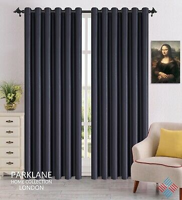 THERMAL BLACKOUT CURTAINS Eyelet / Ring Top OR Pencil Pleat with FREE Tie Backs 3
