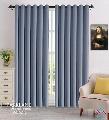 THERMAL BLACKOUT CURTAINS Eyelet / Ring Top OR Pencil Pleat with FREE Tie Backs 4