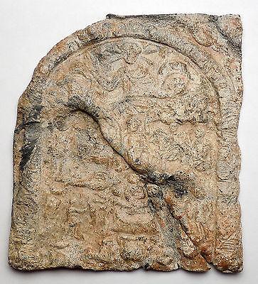 Ancient Roman Lead Plaque Sol Invictus Dioscuri Altar Dolphin Horse i44983 6