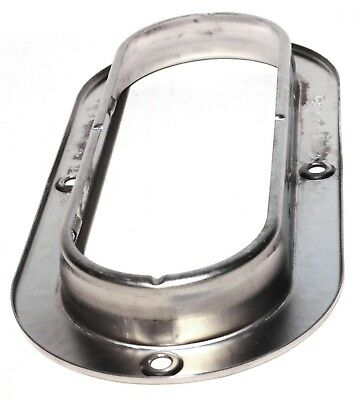 light mounting bezel oval lite anti theft stainless Peterbilt Freightliner KW 5