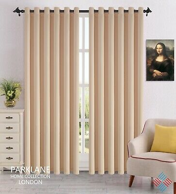 THERMAL BLACKOUT CURTAINS Eyelet / Ring Top OR Pencil Pleat with FREE Tie Backs 2