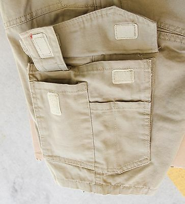 Cargo Pants Work Trousers BigBEE Elastic Band Ankle Cuff Cotton Tapered UPF 50+ 10
