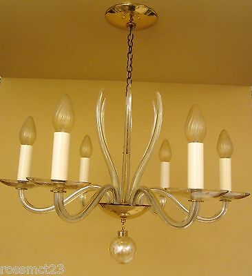 Vintage Lighting 1950s Mid Century high quality chandelier by Lightolier 9