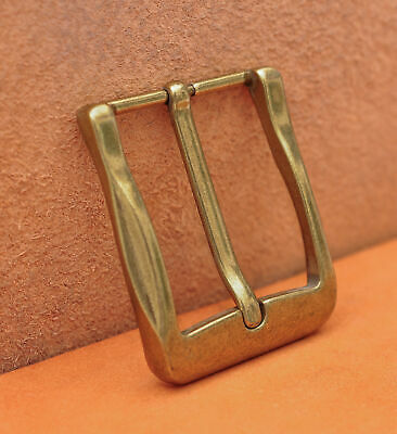 40mm Cool Solid Antique Brass Casual Men Single Pin Prong Leather Belt Buckle 4