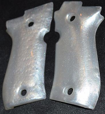BERETTA 84 CHEETAH pistol grips pearl white smooth thick plastic