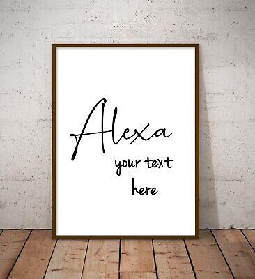 Alexa Home Funny Wall Art Poster Prints. Kitchen, Bathroom, Bedroom, Lounge 3