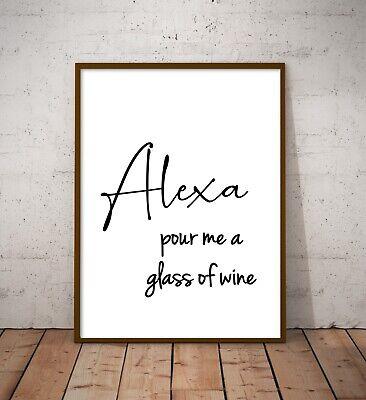 Alexa Home Funny Wall Art Poster Prints. Kitchen, Bathroom, Bedroom, Lounge 2