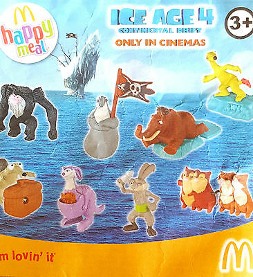 Various McDonalds Happy Meal Toy 2012 UK Ice Age 4 Movie Figure Toys