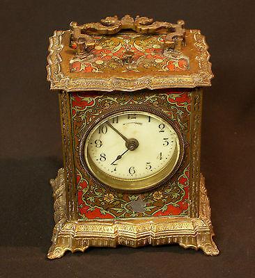 C1 1900 MUCHA superbe pendule pendulette Art nouveau bronze 17c1.7kg clock déco 2