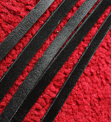 200 cm long 3,4,5,6,7,8,9,10 mm BLACK LEATHER STRIP FLAT CORD LACE 2 mm thick 4