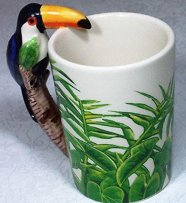 Ceramic Mug TOUCAN Bird in Rain Forest 9319844520058 RAINFTOUM Gift Box 10