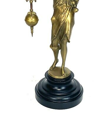 German Style Junghans Brass Onion Body Figure 8 Day Swinging Swinger Clock 7