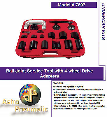BALL JOINT SERVICE Tool And Master Adapter Set U Joint Brake Anchor Pin Ast  7897