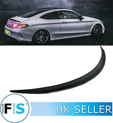 C CLASS C205 COUPE 2D AMG STYLE REAR TRUNK BOOT SPOILER GLOSS BLACK 2015+