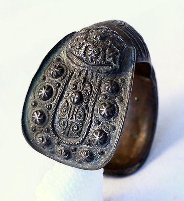 Antique 17/18`C Byzantine Orthodox Medieval Bronze Fertility Folk Art Bracelet 2 7