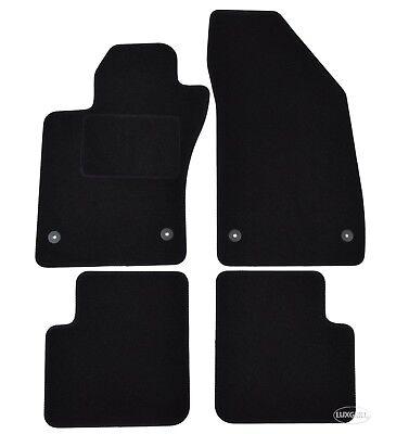 Fußmatten Autoteppiche Velours für FIAT Tipo ab 2015 schwarz Bef.rund