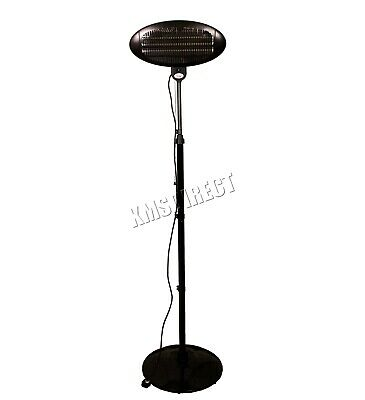 WestWood Standing Patio Heater – Outdoor Garden Electric Heating Quartz - 2KW 6