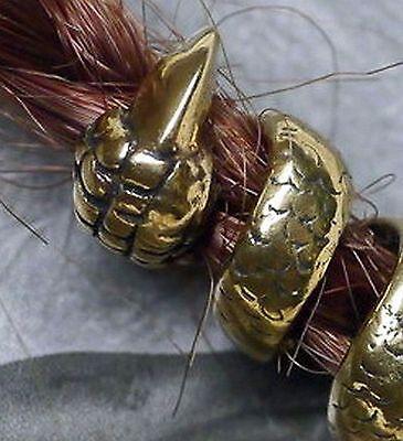 Bartgummis Bartcreole Bart Perle Bartperle Bartschmuck 925 Silber RUNE D5,5mm