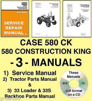 CASE 580CK Tractor SERVICE Manual PARTS 3 _1 wiring diagram for case 580 ck backhoe detailed schematics diagram