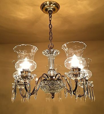 Vintage Lighting circa 1950 Colonial chandelier 2