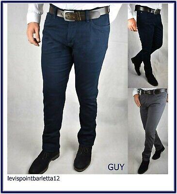 Guy Pantaloni Uomo Slim Fit elasticizzati jeans fustagno cotone invernale casual