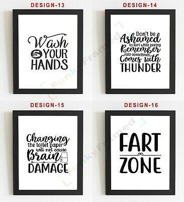Bathroom Wall Art Bathroom Prints Bathroom Pictures Funny Toilet Word Art 2 99 Picclick Uk