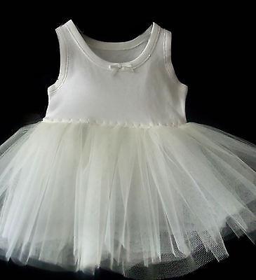 Baby  Ivory Petticoat Christening Dress Flower Girl  Light Fullness Stiff Net 2
