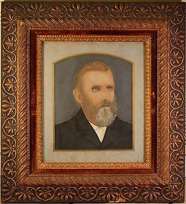 Stunning Antique Folk Art Portraits in Arts & Craft Original Frames. BEAUTIFUL! 2