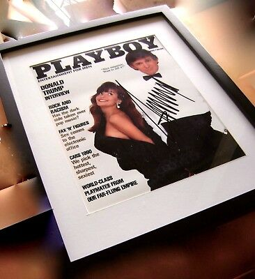 DONALD TRUMP Signed 1990 Playboy Magazine REPRINT of PHOTO / MINT 2