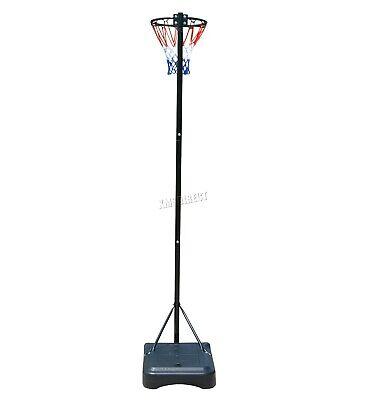 FoxHunter Netball Post Set Stand 3.05M Adjustable Height - With Wheel Hoop Net 2