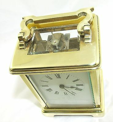 Antique Brass & Bevelled Glass Carriage Clock JAYS 142 & 144 OXFORD ST. W  (46) 7
