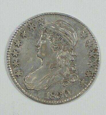 1830 Capped Bust/Lettered Edge Half Dollar EXTRA FINE Silver 50-Cents 3