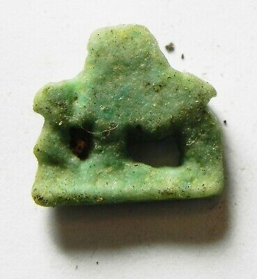 ZURQIEH -as14420- ANCIENT EGYPT,  FAIENCE SOW AMULET. 600 - 300 B.C 2