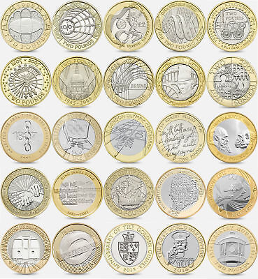 £2 Coins 2 Pound Coin 1995 - 2018 Collectable COMMON, SCARCE & RARE COINS 5