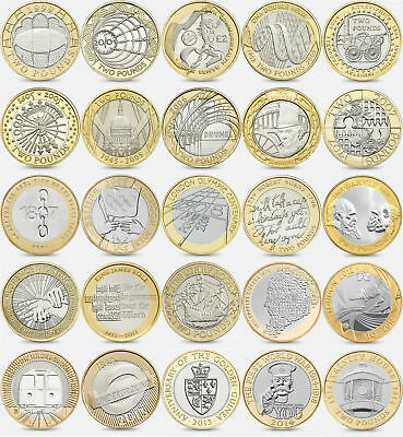 £2 Coins 2 Pound Coin 1995 - 2018 Collectable COMMON, SCARCE & RARE COINS 2