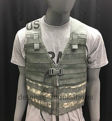 MOLLE II Fighting Load Carrier Vest ACU CAMO LBV FLC Tactical US Army VGC