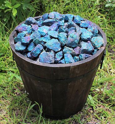 10 oz Box Lot of Raw Rough Natural Chalcopyrite 8 - 12 Pieces (Peacock Ore) 7