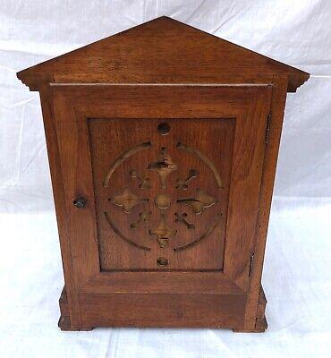 Antique Architectural LENZKIRCH Walnut TING TANG Bracket Mantel Clock : WORKING 10