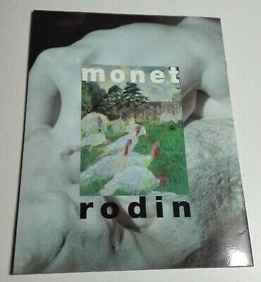 Monet - Rodin. Centenario de la exposición de 1889. Programa original de 1989 4
